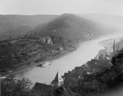 Hirschhorn vor Neckarausbau