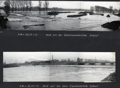 Hochwasser am Neckar, Stadtgebiet Heilbronn