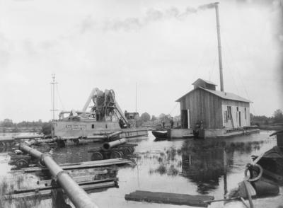 Mittellandkanal im Bau