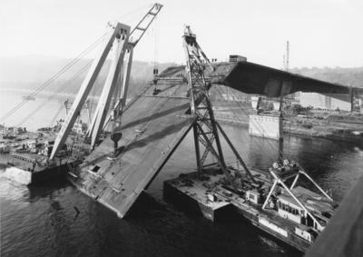 Einsturz Südbrücke 1971 Koblenz/Rhein