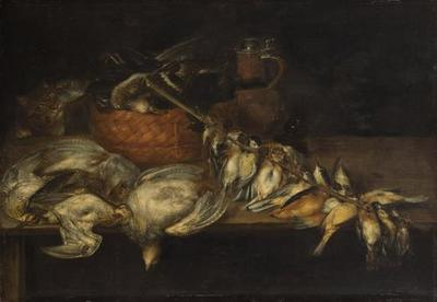 Totes Geflügel mit Katze
