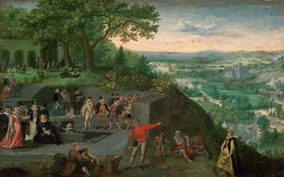 Kaiser Rudolf II. bei einer Trinkkur