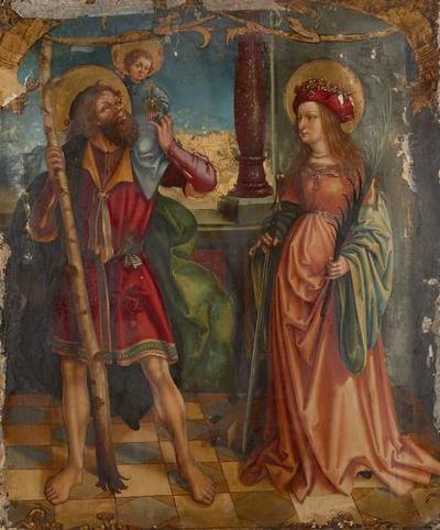 Hll. Christophorus und Katharina