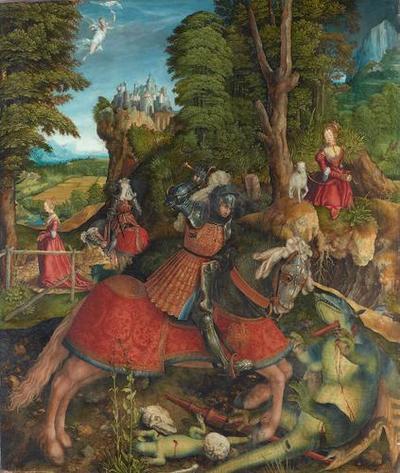 Hl. Georg im Kampf mit dem Drachen