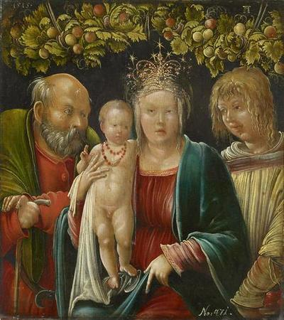 Heilige Familie mit dem Hl. Agapitus