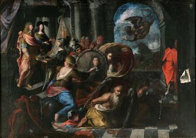 Allegorie auf die Hochzeit Erzherzog Ferdinand Karls (1628-1662) mit der Prinzessin Anna de' Medici (1616-1676)