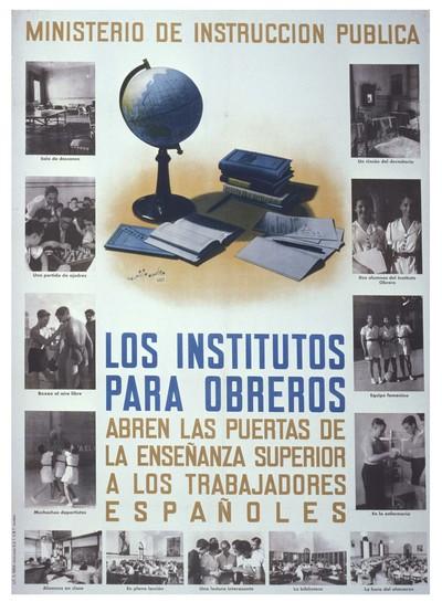 Los institutos para obreros abren las puertas de la enseñanza superior a los trabajadores españoles.