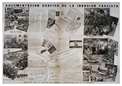 Documentación gráfica de la invasión fascista.