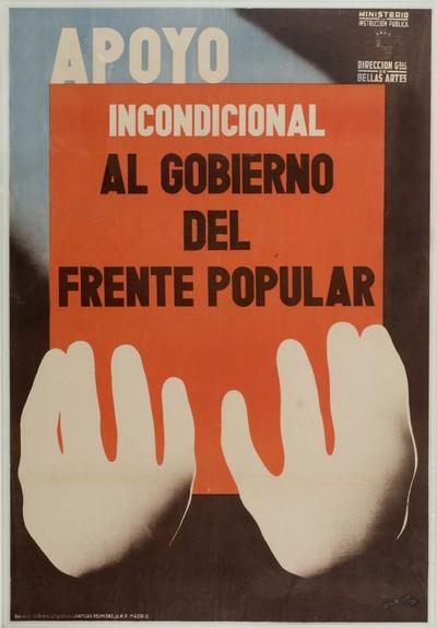 Apoyo incondicional al gobierno del frente popular.