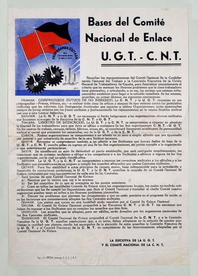 Bases del Comité Nacional de Enlace, U.G.T.-C.N.T.