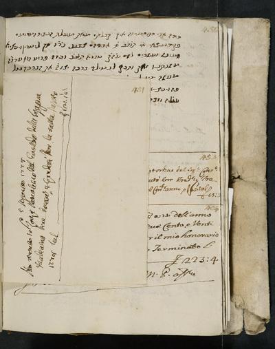 Receipt no. 451 : acknowledges reimbursement from the gastald of the Sinagoga Italiana to Zorzi Manolesso.