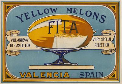 Yelow melons Fita [Material gráfico]: very special selection : Villanueva de Castellón : Valencia - Spain.