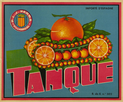 Tanque [Material gráfico]: P & J Parra : Villarreal : frutas selectas.
