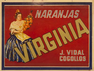 Virginia [Material gráfico]: naranjas : J. Vidal Cogollos.