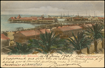 Recuerdo de Alicante [Material gráfico]: los balnearios.