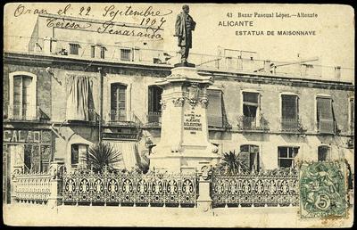 Estatua de Maisonnave [Material gráfico]: Alicante.