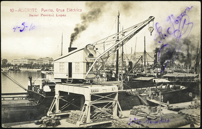 Puerto [Material gráfico]: grua elèctrica [sic] : Alicante