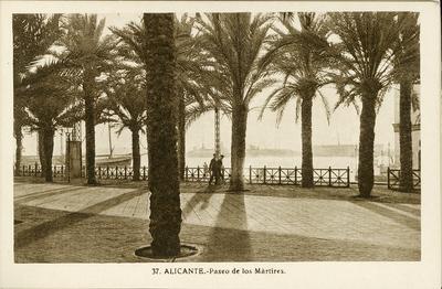 Paseo de los Mártires [Material gráfico]: Alicante