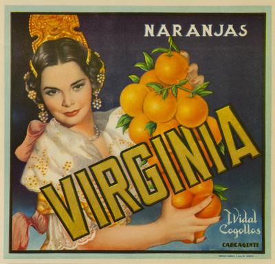 Virginia [Material gráfico]: naranjas : J. Vidal Cogollos : Carcagente.