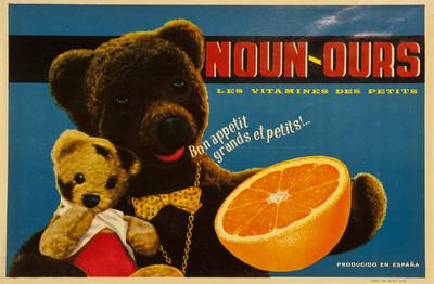 Noun-ours [Material gráfico]: les vitamines des petits : Bon appetit grands et petits!.