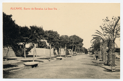 Barrio de Benalua [Material gráfico]: la Gran Vía : Alicante.