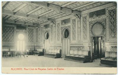 Real Club de Regatas [Material gráfico]: salón de fiestas : Alicante.