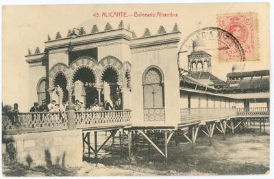 Balneario Alhambra [Material gráfico]: Alicante.