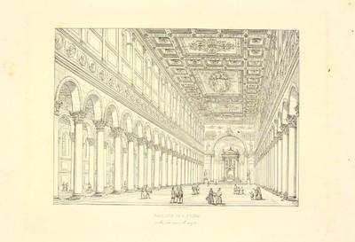 Basilica di S. Paolo [Material gráfico] : nella sua nave di mezzo