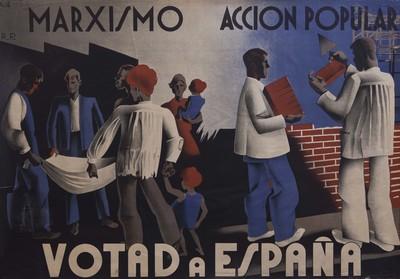Marxismo [Material gráfico] : Acción Popular : Votad a España