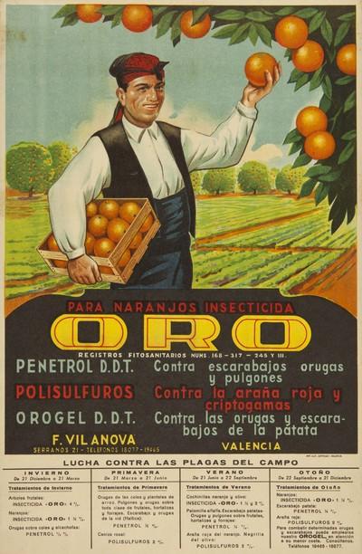 Para naranjos insecticida Oro ... [Material gráfico].]