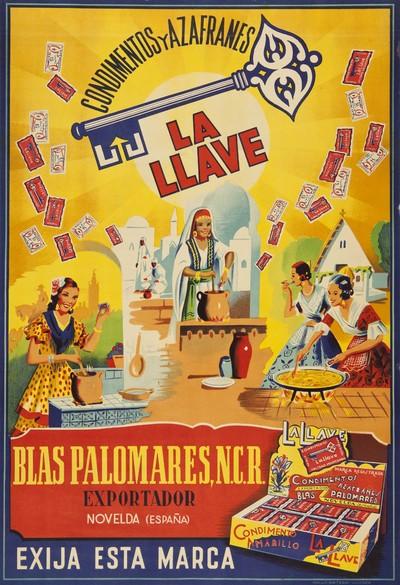 Condimentos y azafranes La Llave [Material gráfico]: ... Novelda ...