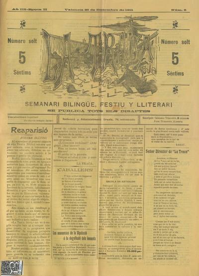 La Traca nova [Texto impreso] : semanari bilingüe festiu y lliterari
