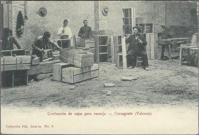 Confección de cajas para naranja [Material gráfico]: Carcagente (Valencia).