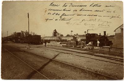 [Estación de tren] [Material gráfico].]