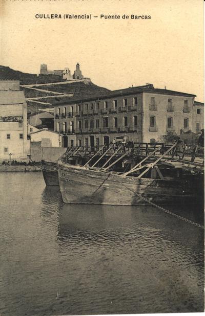 Puente de Barcas [Material gráfico]: Cullera (Valencia).