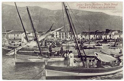Barrio Marítimo y Monte Mongó [Material gráfico]: Fiestes a S. Pedro, acto de L'antena : Denia.