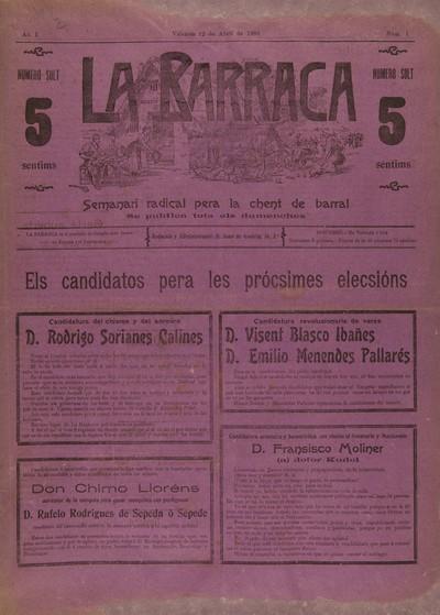 La Barraca : [Texto impreso] semanari radical pera la chent de barral