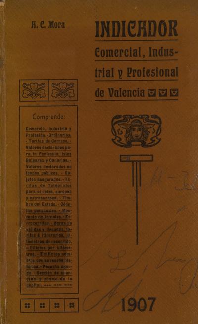 Indicador comercial, industrial y profesional de Valencia [Texto impreso]