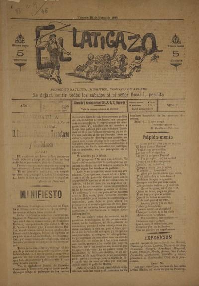 El Latigazo [Texto impreso] : periódico satírico, impolítico, cargado de azufre