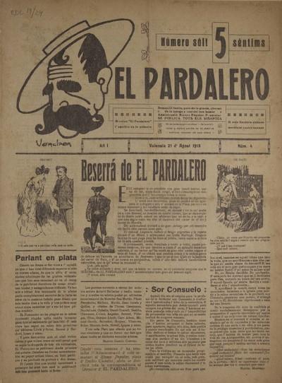 El Pardalero : [Texto impreso] : semanari festiu, pare de la grasia, chermá de la juerga y cosí del bon humor