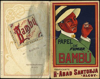 Papel de fumar Bambú [Material gráfico].]