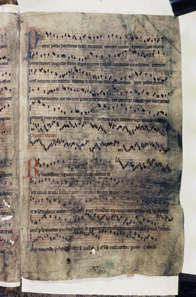 Polyphonic music (fragments).