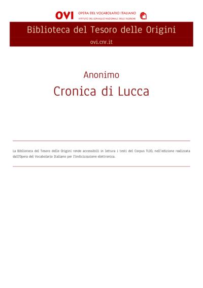 Cronica di Lucca