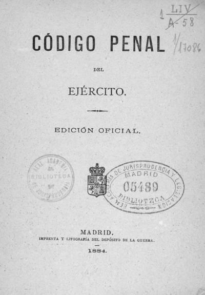 Código penal del ejército
