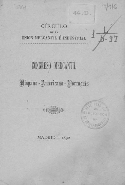 Congreso Mercantil Hispano-Americano-Portugués