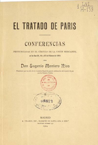 El Tratado de París