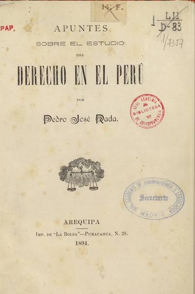 Apuntes sobre el estudio del derecho en el Perú