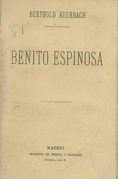 Benito Espinosa : novela