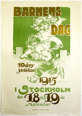 Barnens Dag. 10 årsjubileum. 1915