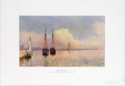 Vid Öresund. Efter oljemålning af C.F.Swensson